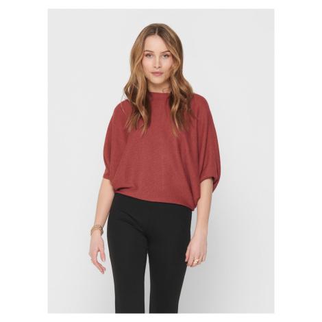 Tehlový sveter s netopierími rukávmi Jacqueline de Yong