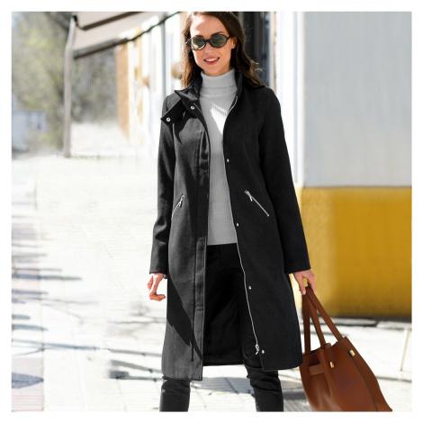 Blancheporte Dlhý kabát na zips tmavosivá