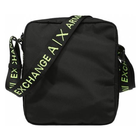 ARMANI EXCHANGE Taška cez rameno  čierna / neónovo zelená