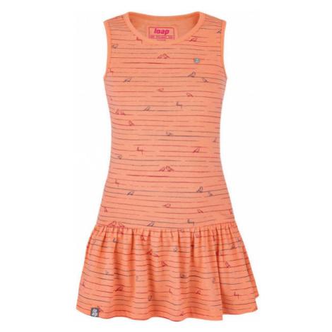 Loap BARISA oranžová - Dievčenské šaty