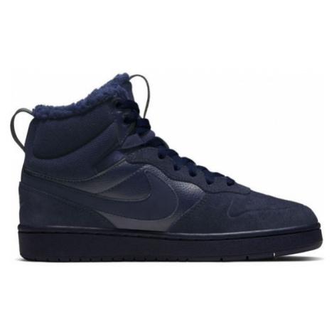 Nike COURT BOROUGH MID 2 BOOT BG modrá - Detská voľnočasová obuv