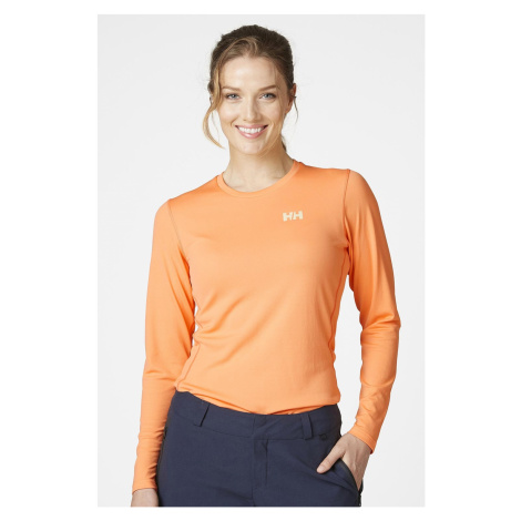 Oranžové tričko s dlhými rukávmi Helly Hansen