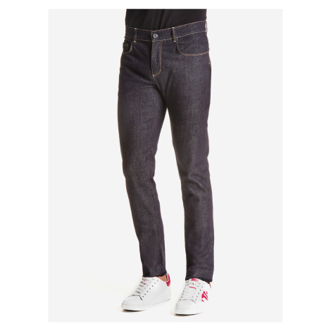 Džínsy Trussardi 370 Close Denim Gold Blue Stretch Modrá