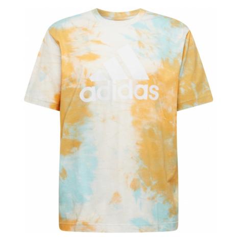 ADIDAS PERFORMANCE Funkčné tričko 'Essentials'  oranžová / tyrkysová / krémová / biela