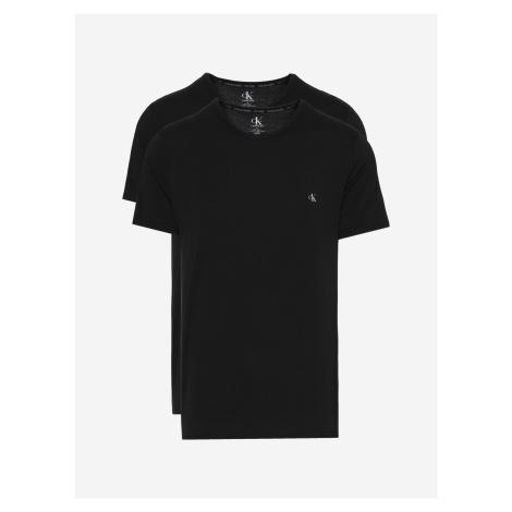 Spodní triko 2 ks Calvin Klein Čierna