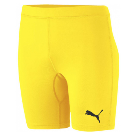 Puma LIGA BASELAYER SHORT TIGH JR žltá - Detské športové šortky