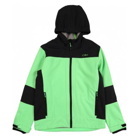 CMP Outdoorová bunda  čierna / limetová