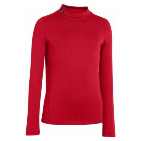 Under Armour CG EVO FITTED LS MOCK červená - Chlapčenské tričko