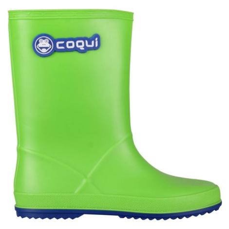 Coqui RAINY zelená - Detské gumáky