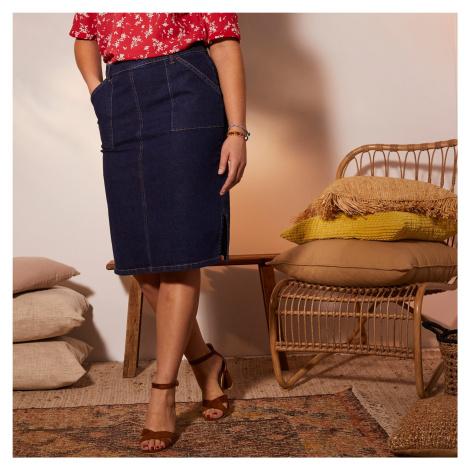 Blancheporte Džínsová sukňa modrá