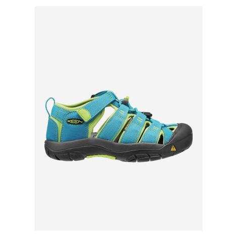 Sandále Keen Newport H2 Jr Hawaiian Blue/Green Glow Modrá