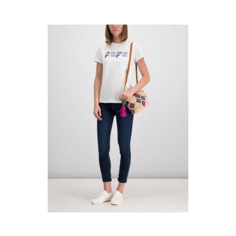 Pepe Jeans Straight Leg džínsy PL203384DB78 Tmavomodrá Skinny Fit
