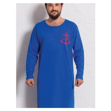 Pánska nočná košeľa s dlhým rukávom Kotva Gazzaz