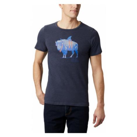 Columbia M PINEY FALLS™ GRAPHIC TEE tmavo modrá - Pánske tričko