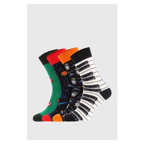 4 PACK ponožiek Bellinda Crazy Socks Space