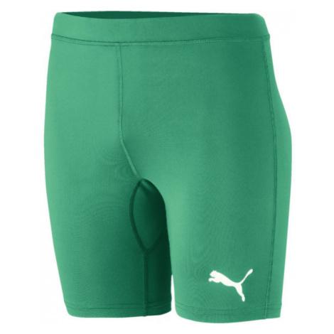Puma LIGA BASELAYER SHORT TIGH JR zelená - Detské športové šortky