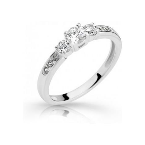 Cutie Jewellery Pôvabný prsteň z bieleho zlata so zirkónmi Z6806-2360-10-X-2 mm