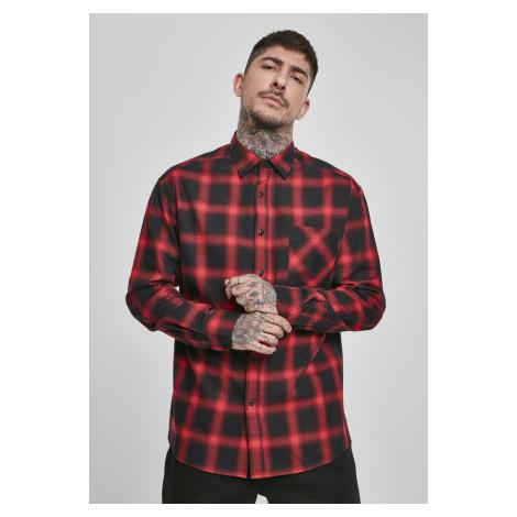 Pánska košeľa URBAN CLASSICS Oversized Checked Shirt blk/red