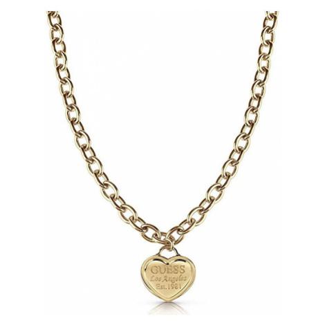Guess Zamilovaný náhrdelník so srdiečkom UBN28015