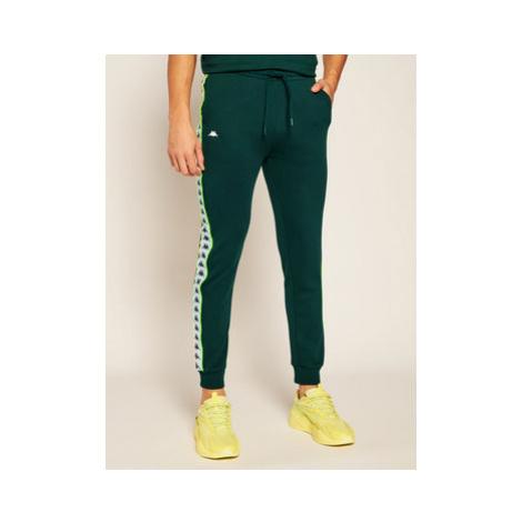 Kappa Teplákové nohavice Henner 308021 Zelená Regular Fit