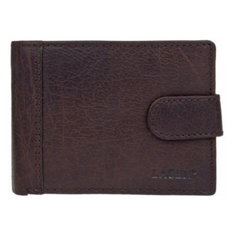 Pánska kožená peňaženka Lagen Prean - tmavo hnedá