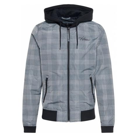 HOLLISTER Prechodná bunda  sivá / biela / antracitová / čierna