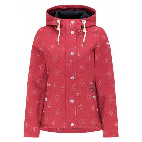 Schmuddelwedda Funkčná bunda  jasne červená / biela