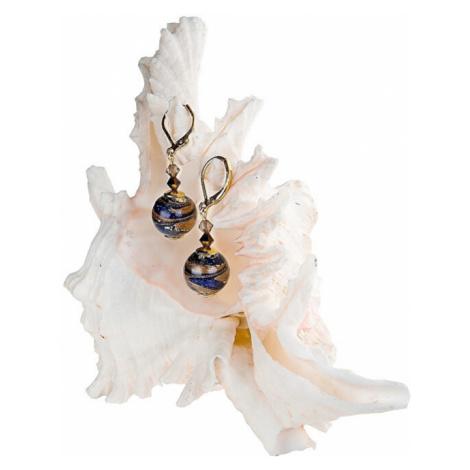 Lampglas Jedinečné náušnice Egyptian Romance s karátovým zlatom v perlách Lampglas EER1