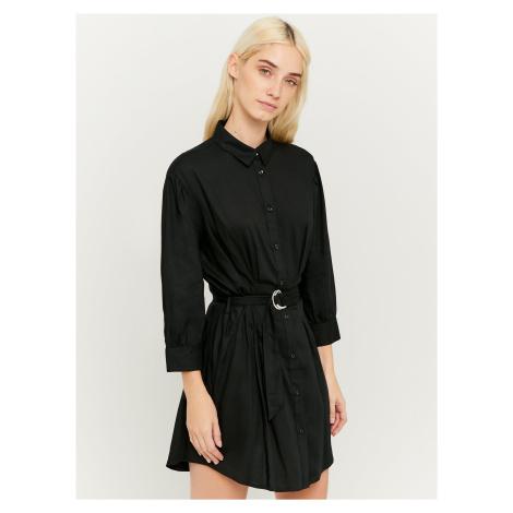 Čierne košeľové šaty s opaskom TALLY WEiJL