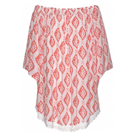 s.Oliver Plážové šaty  biela / pastelovo červená