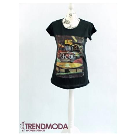 Čierne tričko dámske  T03
