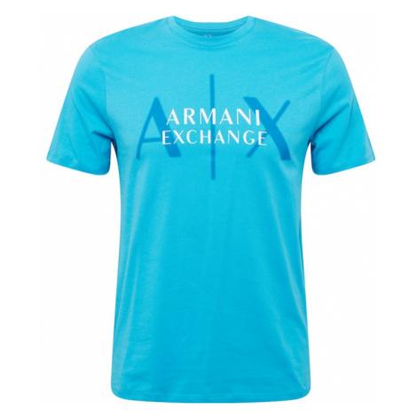 ARMANI EXCHANGE Tričko  modrá / biela