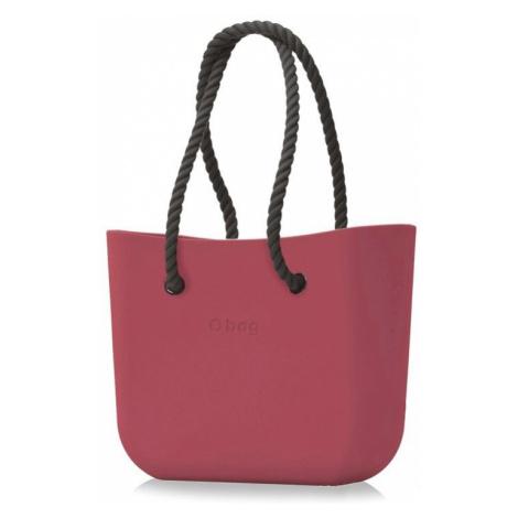 O bag vínová/bordová kabelka Marsala s čiernymi dlhými povrazmi