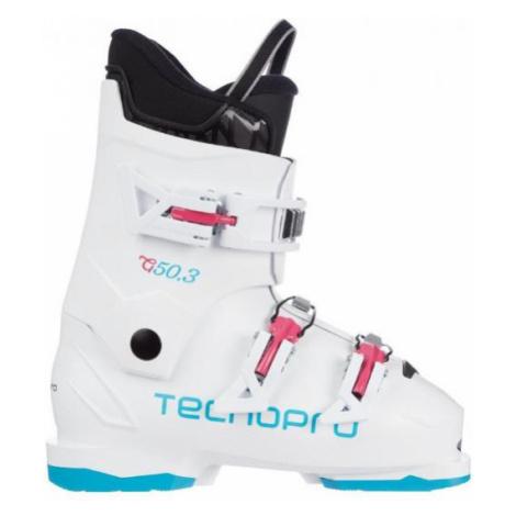 Biele lyžiarska obuv