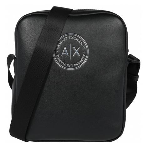 ARMANI EXCHANGE Taška cez rameno  čierna / biela