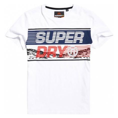 Superdry DOWNHILL PHOTOGRAPHIC TEE biela - Pánske tričko