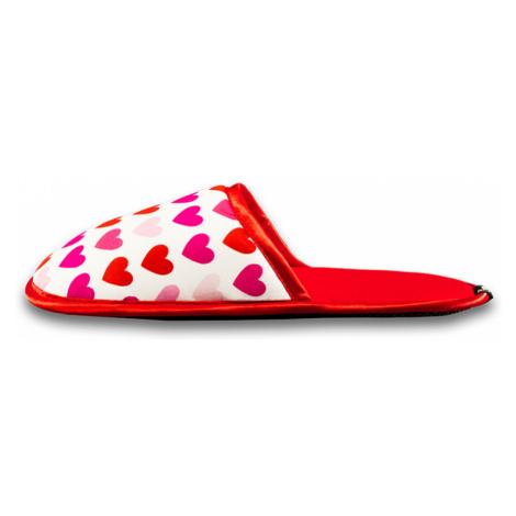 Dámske červeno-biele papuče Sweet Love Slippsy