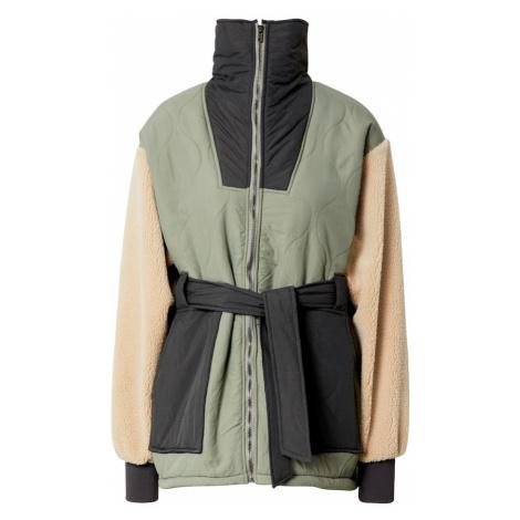 Neo Noir Prechodná bunda 'Carlise'  zelená / béžová / tmavosivá