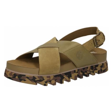 TIMBERLAND Remienkové sandále  olivová