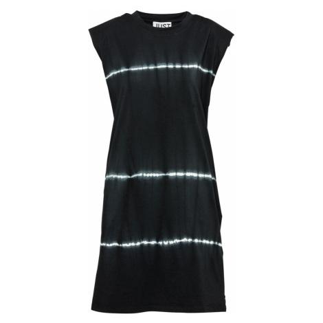 JUST FEMALE Šaty 'Beijing'  čierna / biela