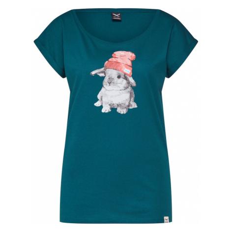 Iriedaily Tričko 'It Hasi'  petrolejová / zmiešané farby