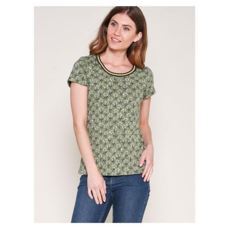 Zelené vzorované tričko Brakeburn