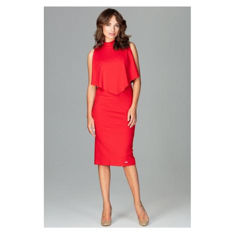 Lenitif Woman's Dress K480 Fuchsia Red
