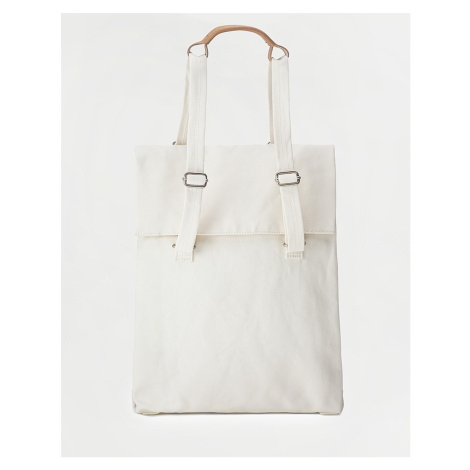 Qwstion Flap Tote Medium Natural White