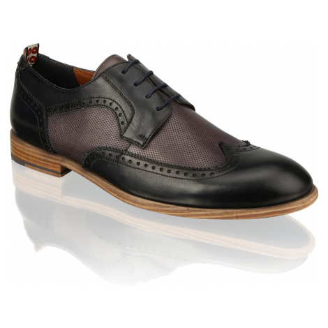 Pat Calvin koža Elegantná šnurovacia obuv modrá
