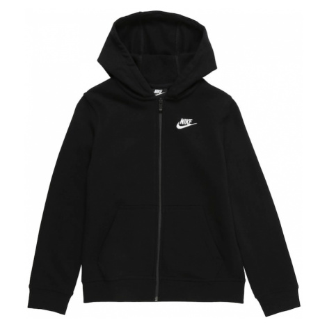 Nike Sportswear Tepláková bunda  čierna / biela