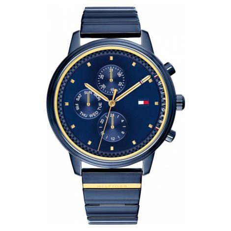 TOMMY HILFIGER Analógové hodinky  modrá / zlatá