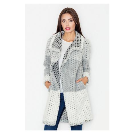 Sivý sveter M507 Figl