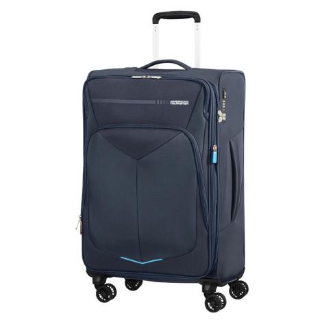 American Tourister Cestovný kufor Summerfunk Spinner EXP 78G 71,5/77 l - tmavě modrá