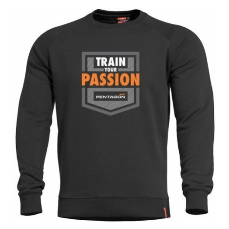 Mikina PENTAGON® Hawk Train Your Passion čierna
